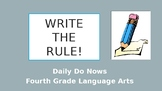 Capitalization, Usage, Punctuation, and Spelling Rules