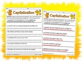 Capitalization Worksheet Activity Page Printable