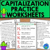 Capitalization Practice Worksheets - NO PREP