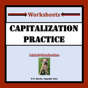 Capitalization Worksheets for Practice