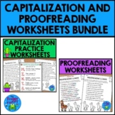 Capitalization and Proofreading Practice Bundle