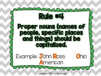 Capitalization and Punctuation 20 Worksheets/Posters