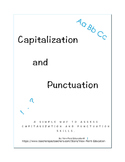Capitalization and Punctuation Assessment