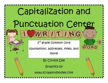 Capitalization and Punctuation Center