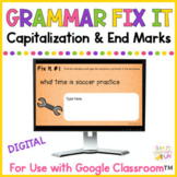 Capitalization and Punctuation Digital Practice