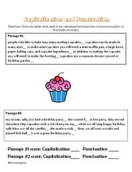Capitalization and Punctuation Editing Practice