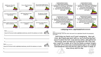 Capitalization and Punctuation Task Card Frenzy