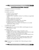 Capitalization and Punctuation Notes