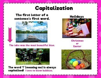 Capitalization and Punctuation Posters (Freebie)