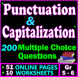 Capitalization and Punctuation Practice. 200 MCQs. Gr 5-6. GOOGLE DRIVE