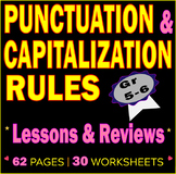 Capitalization and Punctuation Practice. 30 LESSONS & REVI