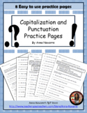 Capitalization and Punctuation Practice Pages