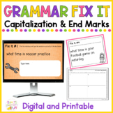 Capitalization and Punctuation Practice Print and Digital