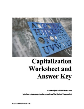 Capitalization practice worksheets