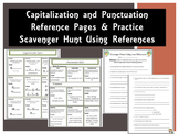 Capitalization and Punctuation Reference with Scavenger Hunt WKST