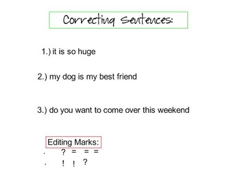 Capitalization and Punctuation Review