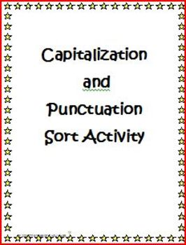 Capitalization and Punctuation Sort Activity