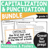 Capitalization and Punctuation Test Prep Print and Go BUNDLE (2 Products)