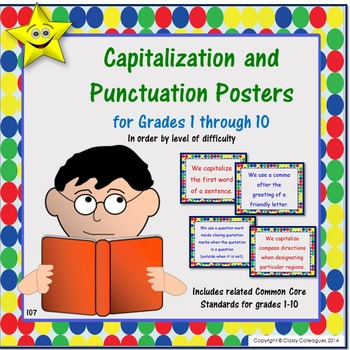 Capitalization and Punctuation Rule Posters for All Levels