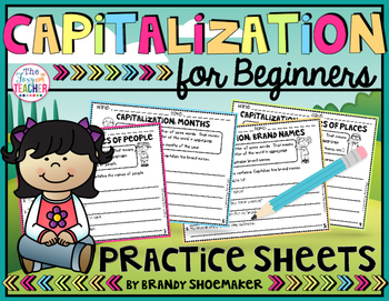 Capitalization for Beginners Practice Sheets