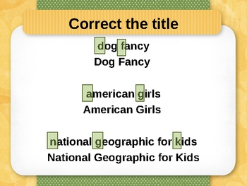 Capitalization of Titles and Quotes