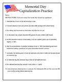 Capitalization practice: Memorial Day