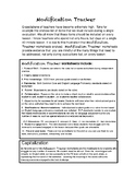 Capitalization with Modification Rubric (5 lessons) Kindergarten