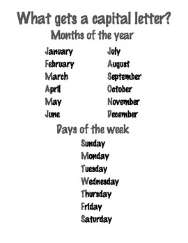 Capitalize Days and Months