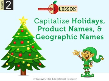Capitalize  Holidays, Product Names, & Geographic Names