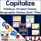 Capitalize Holidays, Product Names, Geographic Names, for