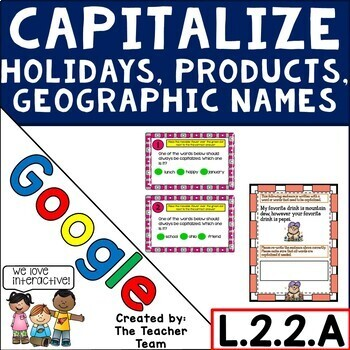 Capitalize Holidays, Products, Geographic Names for Google Drive L.2.2.A