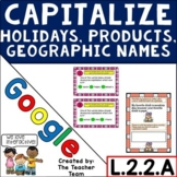 Capitalize Holidays, Products, Geographic Names for Google