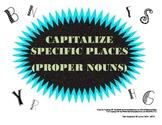 Capitalize Specific Places (Proper Nouns)- Common Core ELA L.2.a