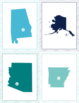 Capitalize This! US States and Territories and their Capitals Bundle