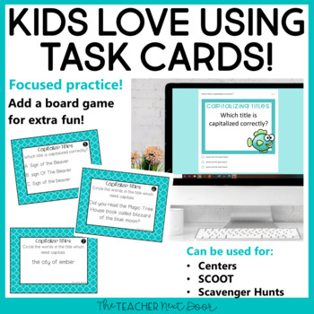 Capitalize Title Game | Capitalize Titles Center Activity