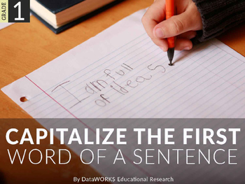 Capitalize the First Word of a Sentence