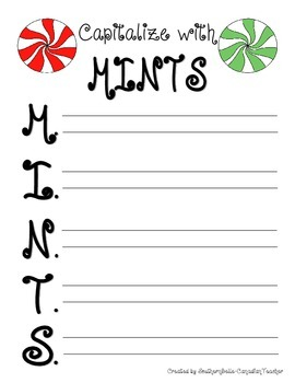 Capitalize with Mints FREEBIE - Guided Notes