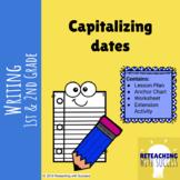 Capitalizing dates