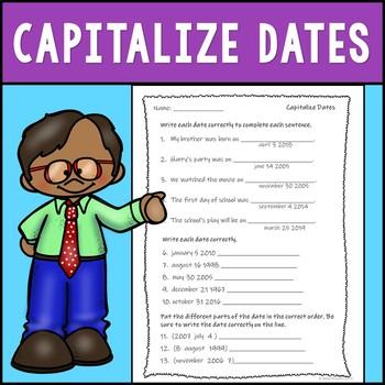 Capitalizing Dates Assessment
