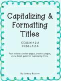 Capitalizing & Formatting Titles Pack