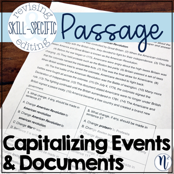 Capitalizing Historical Events & Documents: Skill-Specific Revising and Editing