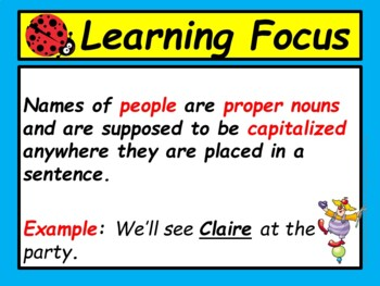 Capitalizing Names PowerPoint Lesson