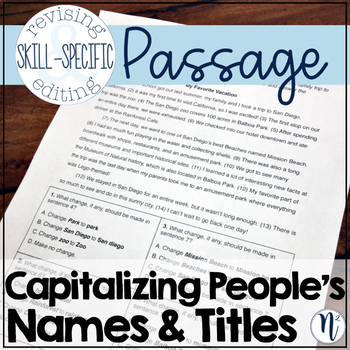 Capitalizing Names & Titles of People: Skill-Specific Revising and Editing