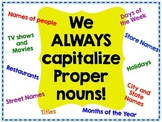 Capitalizing Proper Nouns: Poster, Scoot and Worksheet