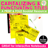 Punctuating & Capitalizing Titles of Work Book Titles No Cut, Print and Fold