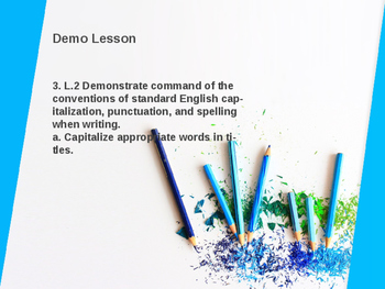Capitalizing Title Lesson ideas