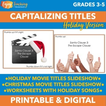 Capitalizing Titles Holiday Version