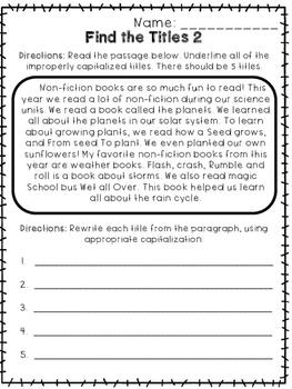Capitalizing Titles - Print and Go Unit