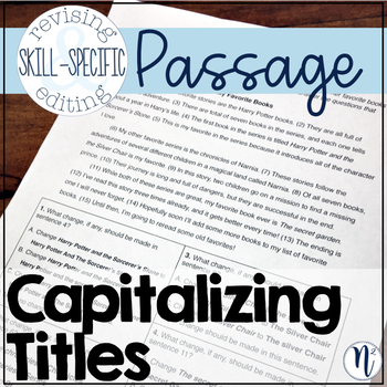 Capitalizing Titles: Skill-Specific Revising and Editing Passage