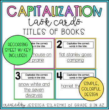 Capitalizing Titles Task Cards